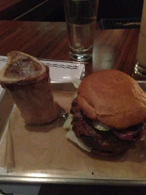 burger and bone marrow