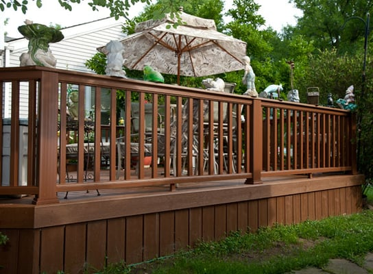 Trex Transcend Deck With Flat Top Rail Trex Railings The