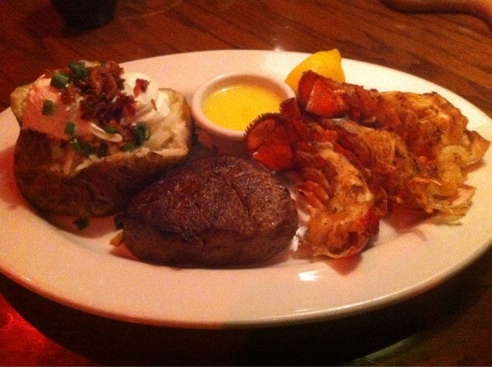 Outback Steak And Crab Cake Special
