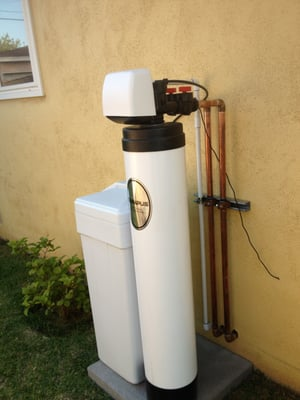 Clack Ws1 Water Softener And Loop Installed Outside Yelp